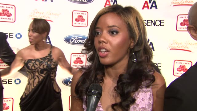 Angela Simmons talks about supporting Steve's work describes her work with charities says her family is her rock at the Steve Harvey Hosts 2nd Annual...