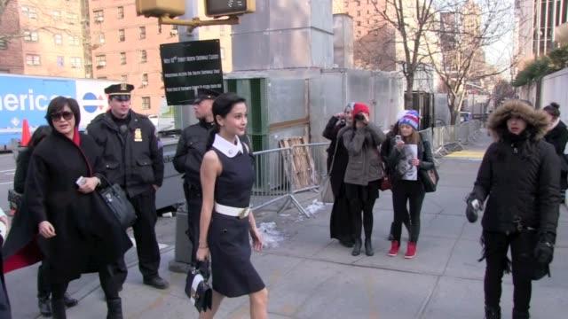 Angelababy outside MercedesBenz Fashion Week Angelababy outside MercedesBenz Fashion Week on February 13 2013 in New York New York