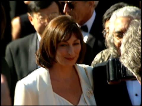 Angelica Huston at the 1995 Emmy Awards Arrivals at the Pasadena Civic Auditorium in Pasadena California on September 10 1995