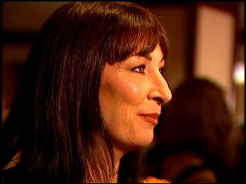 angelica huston at the directors guild awards arrivals at the century plaza hotel in century city, california on march 8, 1997. - センチュリープラザ点の映像素材/bロール