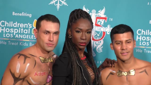 angelica ross at the abbey food and bar's 11th annual christmas in september at the abbey nightclub in west hollywood in celebrity sightings in los... - food bar stock videos and b-roll footage