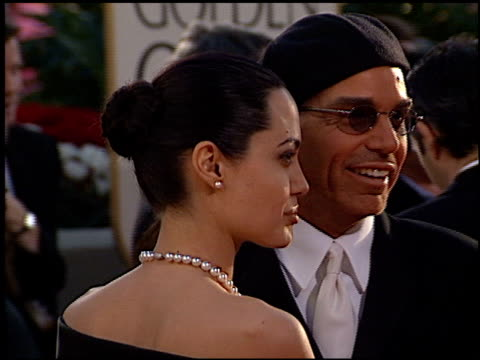 Angelina Jolie and Billy Bob Thornton at the 2002 Golden Globe Awards at the Beverly Hilton in Beverly Hills California on January 20 2002