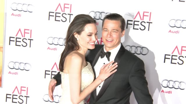 Angelina Jolie and Brad Pitt at By The Sea World Premiere Gala Screening AFI Fest 2015at TCL Chinese Theatre on November 05 2015 in Hollywood...
