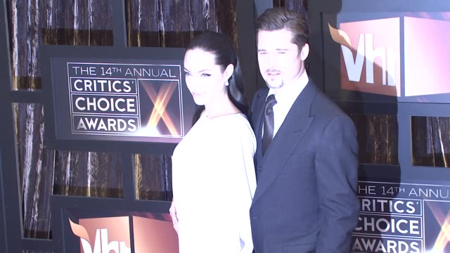 Angelina Jolie and Brad Pitt at the 14th Annual Critics' Choice Awards at Los Angeles CA