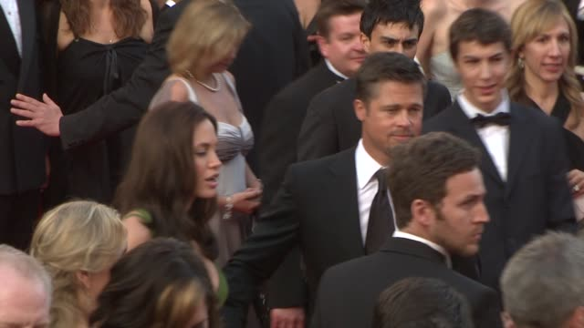 angelina jolie and brad pitt at the 2008 cannes film festival - 'kung fu panda' premiere in cannes on may 15, 2008. - brad pitt actor stock videos & royalty-free footage