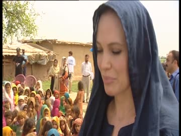 angelina jolie assists fundraising efforts in pakistan through her role as goodwill ambassador for the united nations - angelina jolie stock videos & royalty-free footage
