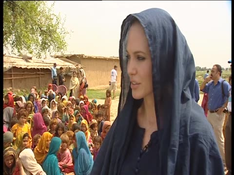 angelina jolie assists fundraising efforts in pakistian through her role as goodwill ambassador for the united nations - angelina jolie stock videos & royalty-free footage