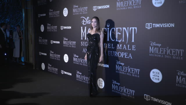 angelina jolie at 'maleficent: mistress of evil' european premiereon october 7, 2019 in rome, italy. - angelina jolie stock videos & royalty-free footage