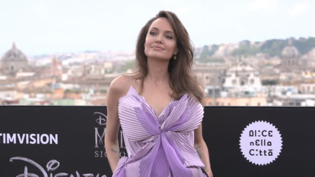 mistress of evil' photo call - angelina jolie stock videos & royalty-free footage