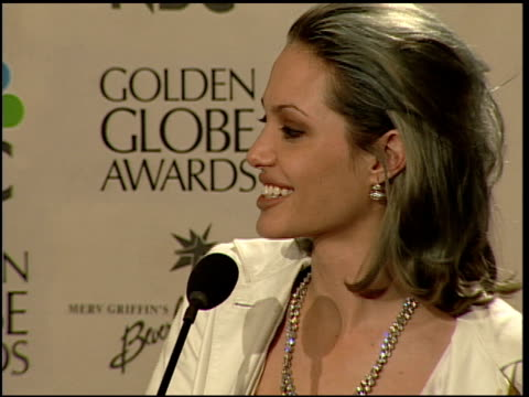 Angelina Jolie at the 2000 Golden Globe Awards at the Beverly Hilton in Beverly Hills California on January 23 2000
