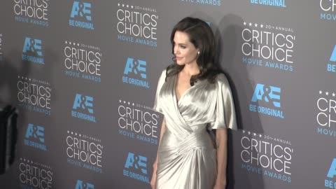 angelina jolie at the 20th annual critics' choice awards at hollywood palladium on january 15, 2015 in los angeles, california. - 2015 stock videos & royalty-free footage