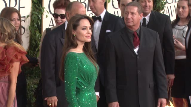 Angelina Jolie at the 68th Annual Golden Globe Awards Arrivals Part 2 at Beverly Hills CA