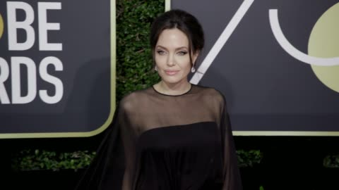 angelina jolie at the 75th annual golden globe awards at the beverly hilton hotel on january 07, 2018 in beverly hills, california. - angelina jolie stock videos & royalty-free footage