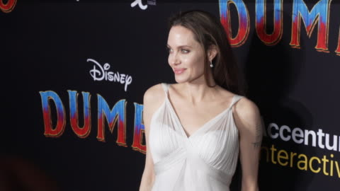 """angelina jolie at the """"dumbo"""" world premiere at the el capitan theatre on march 11, 2019 in hollywood, california. - angelina jolie stock videos & royalty-free footage"""
