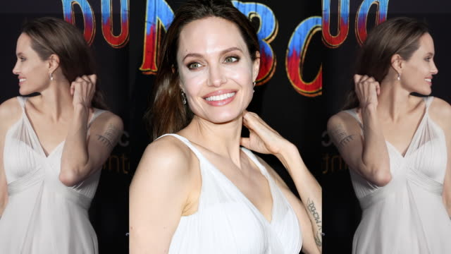 Angelina Jolie at the Dumbo World Premiere