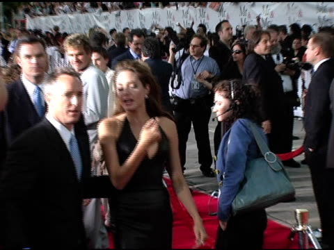 angelina jolie at the 'mr and mrs smith' world premiere at the mann village theatre in westwood california on june 7 2005 - angelina jolie stock videos & royalty-free footage