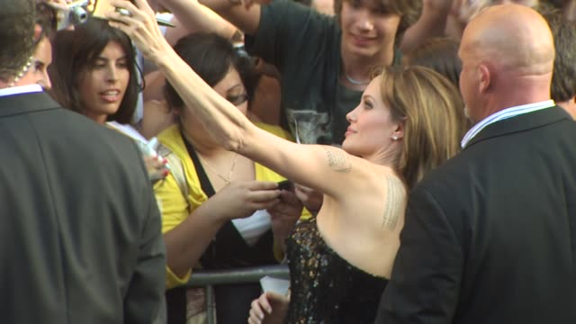 angelina jolie at the 'salt' premiere at los angeles ca. - première stock videos & royalty-free footage