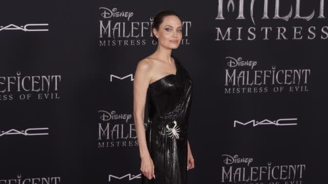 angelina jolie at the world premiere of disney's maleficent mistress of evil on september 30 2019 in hollywood california - angelina jolie stock videos & royalty-free footage