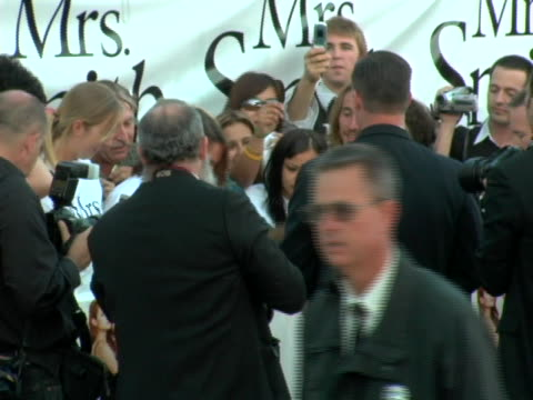 Angelina Jolie greets fans at the World Premiere of Mr Mrs Smith at Mann Village Theatre in Westwood CA