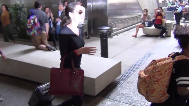 Angelina Jolie her kids arriving at LAX Airport in Los Angeles in Celebrity Sightings in Los Angeles