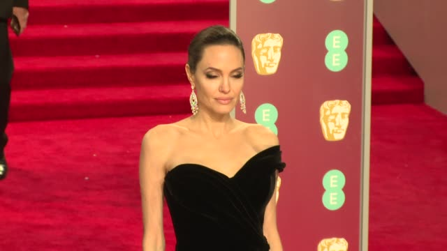Angelina Jolie Loung Ung at Royal Albert Hall on February 18 2018 in London England