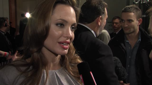 Angelina Jolie on having a supporting family at Cinema For Peace Gala 2012 in Berlin on January 13th 2016