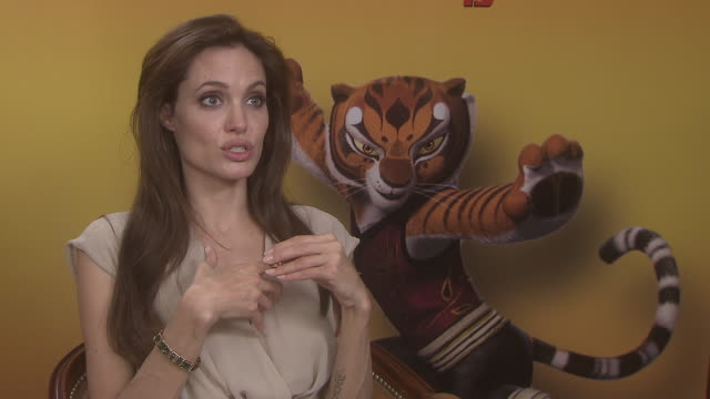 Angelina Jolie on her character being shown ealry edits and her childern's reaction to it at the Kung Fu Panda 2 Interviews 64th Annual Cannes Film...