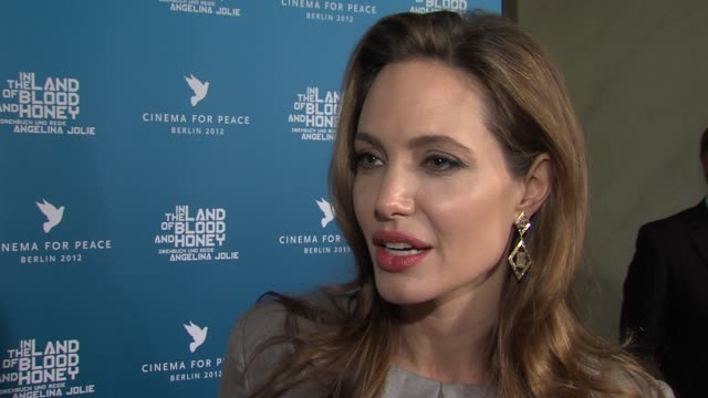 Angelina Jolie on learning about life from survivors of war at Cinema For Peace Gala 2012 in Berlin on January 13th 2013