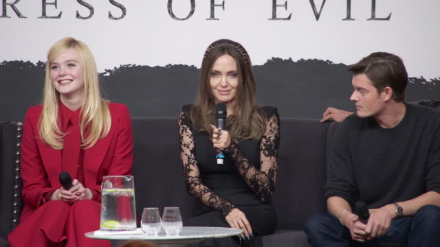 interview angelina jolie on on her current life goals at maleficent mistress of evil' press conferenceon october 10 2019 in london england - evil stock videos & royalty-free footage
