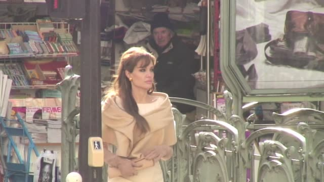Angelina Jolie on the last day of shooting of The Tourist in Paris Angelina Jolie on the last day of shooting of The on March 01 2010 in Paris France