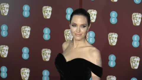 angelina jolie on the red carpet of the 2018 bafta award ceremony in london london, uk 18th february 2018 - angelina jolie stock videos & royalty-free footage