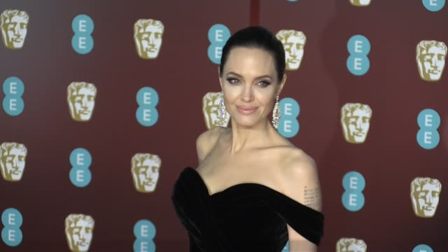 Angelina Jolie on the red carpet of the 2018 BAFTA award ceremony in London London UK 18th february 2018