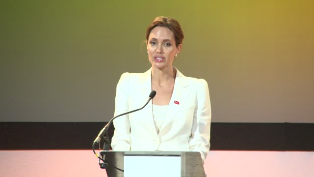 INTERVIEW Angelina Jolie on the summit and it's goals at Fringe Opening Event at ExCel on June 10 2014 in London England