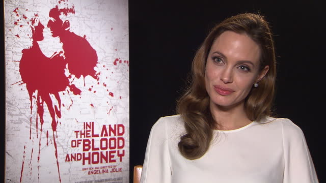 angelina jolie on what she would change about the world at in the land of milk and honey interviews: 62nd berlinale international film festival at... - interview raw footage stock videos & royalty-free footage