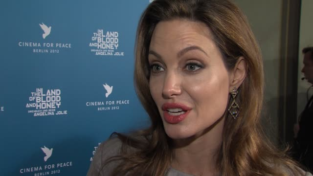 Angelina Jolie on when she considered her film a success at Cinema For Peace Gala 2012 in Berlin on January 13th 2014