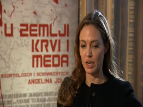 angelina jolie on where she got the inspiration for the film in the land of blood and honey - scriptwriter stock videos and b-roll footage