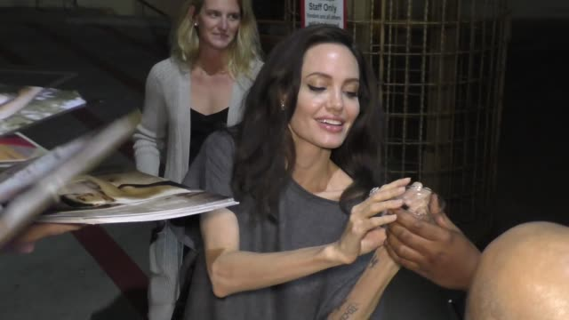 Angelina Jolie signs for fans at AFI Fest 2017 in Hollywood in Celebrity Sightings in Los Angeles