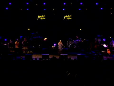 angelique kidjo and youssou n'dour, performing at the montreux jazz festival, say the cup should give their continent to confidence to envisage a... - montreux stock videos & royalty-free footage