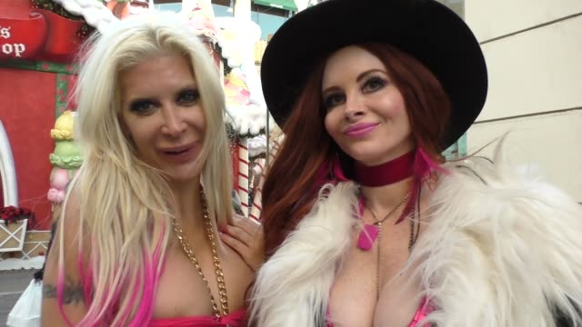 INTERVIEW Angelique Morgan Phoebe Price talk about their beef they had with each other as they shop at The Grove in Hollywood in Celebrity Sightings...