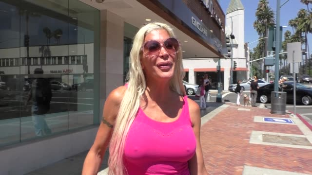 INTERVIEW Angelique Morgan talks about all the celebrity nude photos being hacked while shopping in Beverly Hills in Celebrity Sightings in Los...