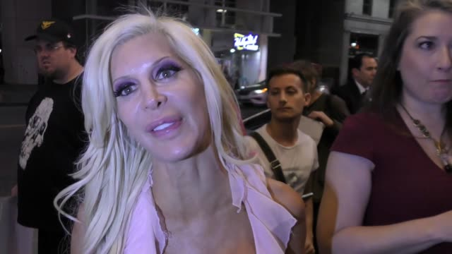 INTERVIEW Angelique Morgan talks about how Angelyne wrecked her car outside The Pantages Theatre in Hollywood in Celebrity Sightings in Los Angeles