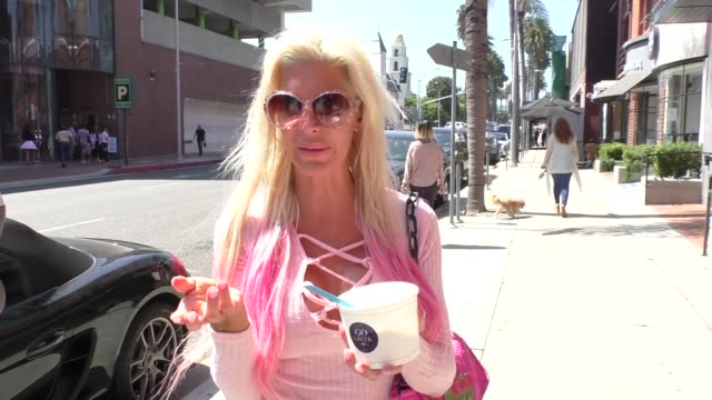 INTERVIEW Angelique Morgan talks about if she is still a Donald Trump supporter while shopping in Beverly Hills in Celebrity Sightings in Los Angeles