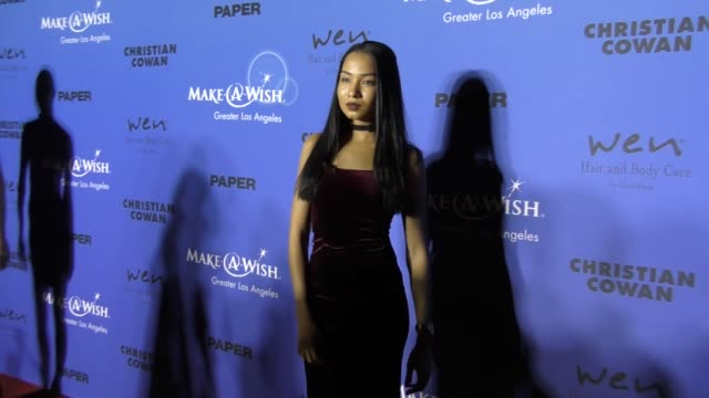 Angelique Pereira Broderick Hunter at the PAPER Magazine Runway Benefit For MakeAWish Foundation on October 24 2017 in Los Angeles California