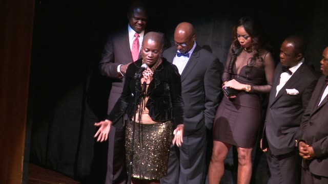 angelle kwemo on proposed congressional resolution on the niger delta at black november screening in washington dc at the john f kennedy center for... - john f. kennedy center for the performing arts stock videos and b-roll footage