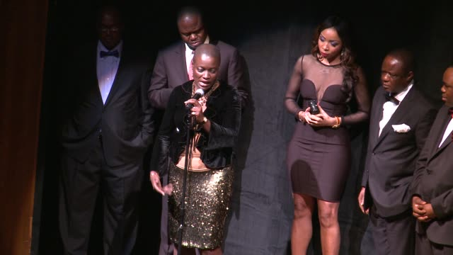 angelle kwemo talks about her contribution to bringing political attention to the niger delta issues black november screening in washington dc at the... - john f. kennedy center for the performing arts stock videos and b-roll footage