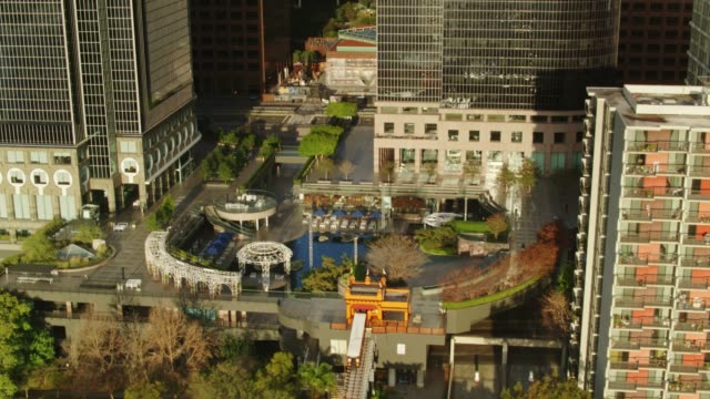 Angel's Flight Funicular and California Plaza with Tilt to Bunker Hill Office Towers, Los Angeles