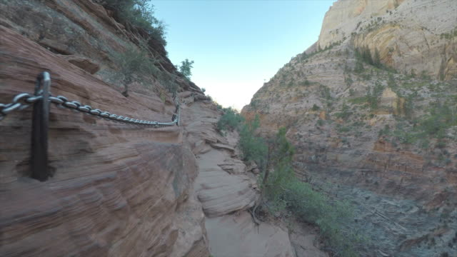 angels landing climb - zion national park stock videos & royalty-free footage