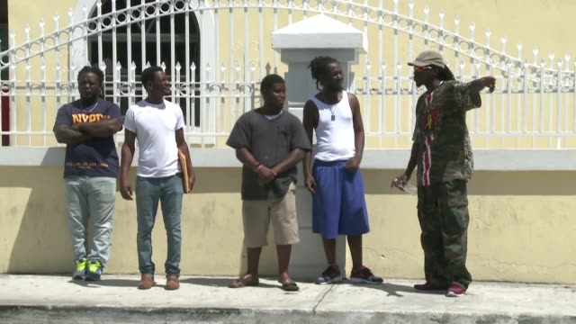 anger and frustration soar among displaced bahamians and haitians sheltered in nassau as the country slowly begins recovery from hurricane dorian - bahamas stock videos & royalty-free footage