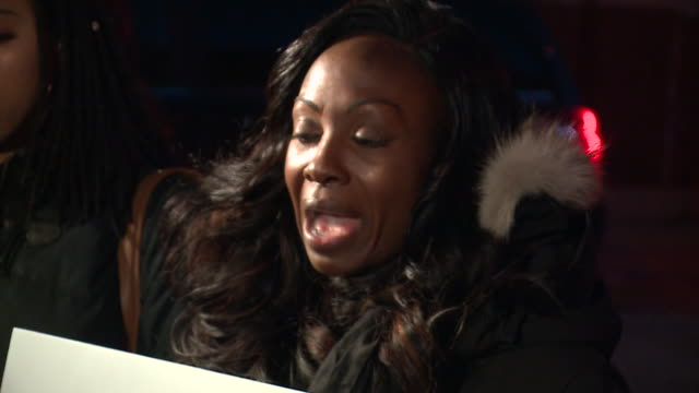 wgn angi taylor a kiss fm morning show host and kendra g a wgci gm morning show host were front and center of the protest leading a few dozen young... - surviving r. kelly stock videos & royalty-free footage