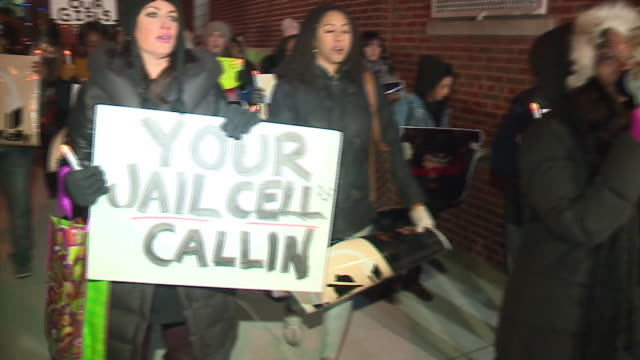 angi taylor, a kiss fm morning show host, and kendra g., a wgci gm morning show host, were front and center of the protest leading a few dozen young... - r. kelly stock videos & royalty-free footage